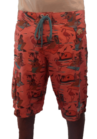 SLOWBUCKS TIKI BEACH SHORTS