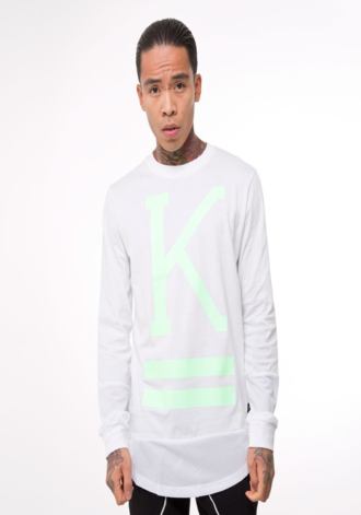 KING APPAREL Stealth Longline Long Sleeve T-shirt
