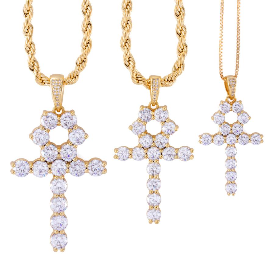 King Ice 14K Gold Ankh Necklace - Crisp Boutique King Ice