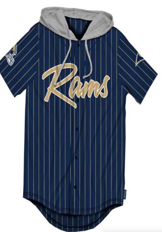 ICER BRANDS LA Rams Logo Shirt w/ Hood