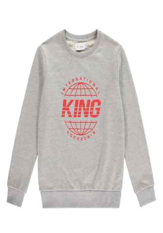 KING APPAREL Bethnal Sweatshirt - Stone