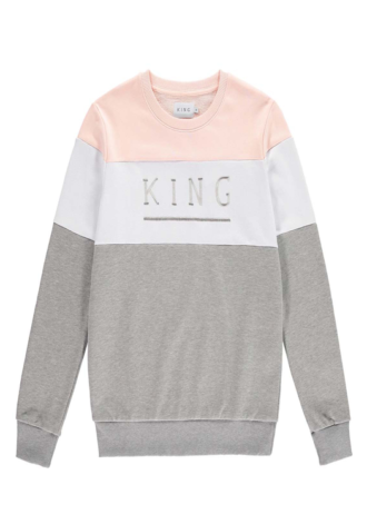 KING APPAREL Shadwell Sweatshirt - WHT/BLUSH