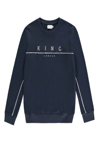 KING APPAREL Tennyson Tracksuit Sweatshirt - Ink