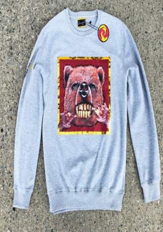 LEONINE Gold Teeth Bear Crewneck