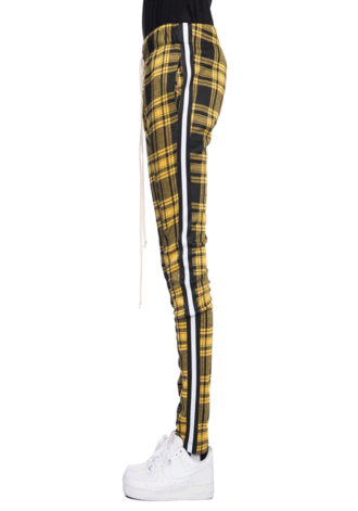 EPTM Taped Plaid Track Pants Yellow/Black
