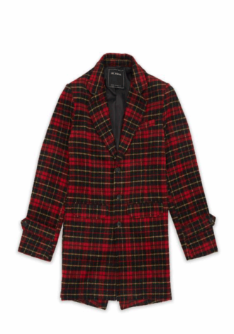 REASON Red and Yellow Plaid Overcoat