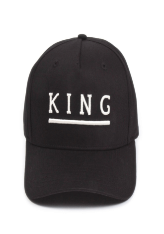 KING APPAREL Shadwell Curved Peak Cap - Black
