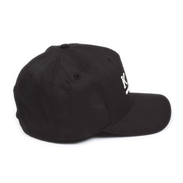 56acbcc66c4 KING APPAREL Shadwell Curved Peak Cap - Black - Black Curved Hat